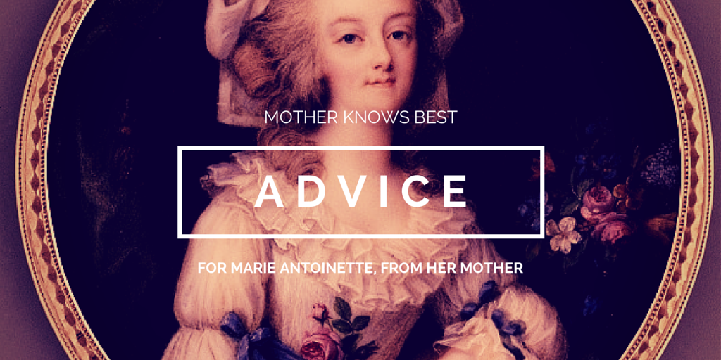 Mother Knows Best header image featuring a picture of Marie Antoinette