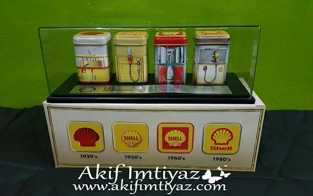 - Shell Heritage Canister Collection 1920 - Shell Heritage Canister Collection 1950 - Shell Heritage Canister Collection 1960 - Shell Heritage Canister Collection 1980 - Shell Heritage Canister Collection Tanker  - Shell Heritage Canisters Collectors's Case