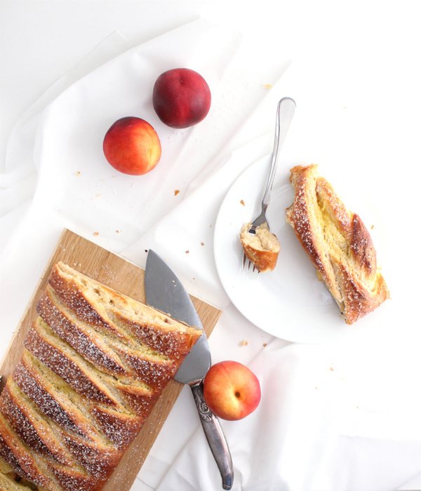 Nectarines and Cream Breakfast Loaf by The Simple Sweet Life blog featured in The Sunday Brunch Magazine - September 2015 Edition