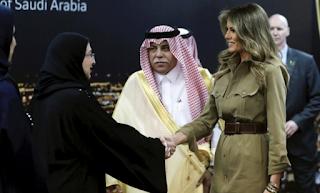 Melania Trump Hails 'Empowerment Of Women' At Saudi Company Visit