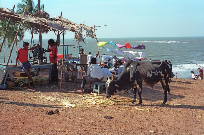 Goa, Vagator Beach, © L. Gigout, 1990
