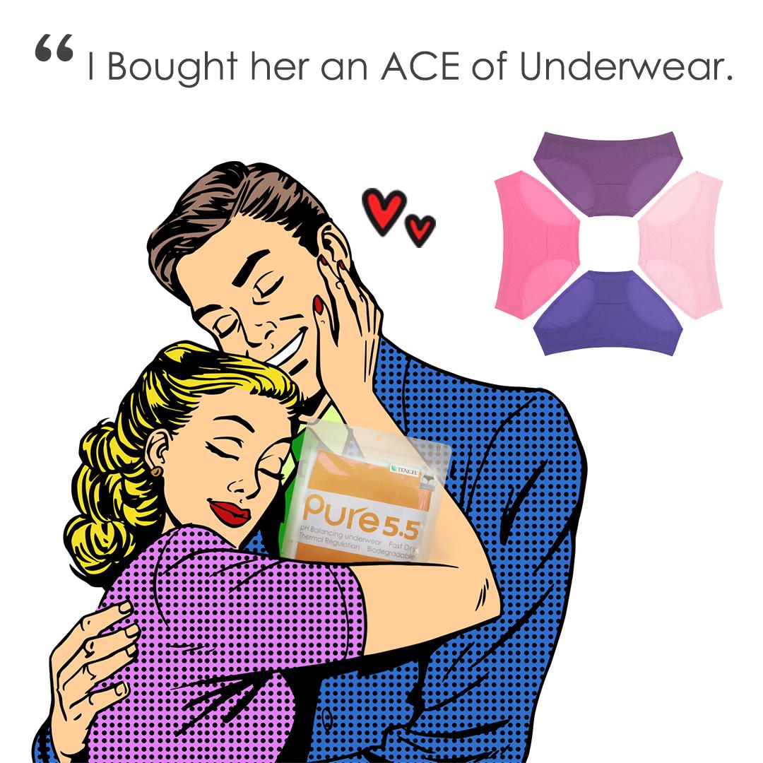 aPure Pure55 pH Balancing Underwear - Bye Bye, 7-Year Itch!