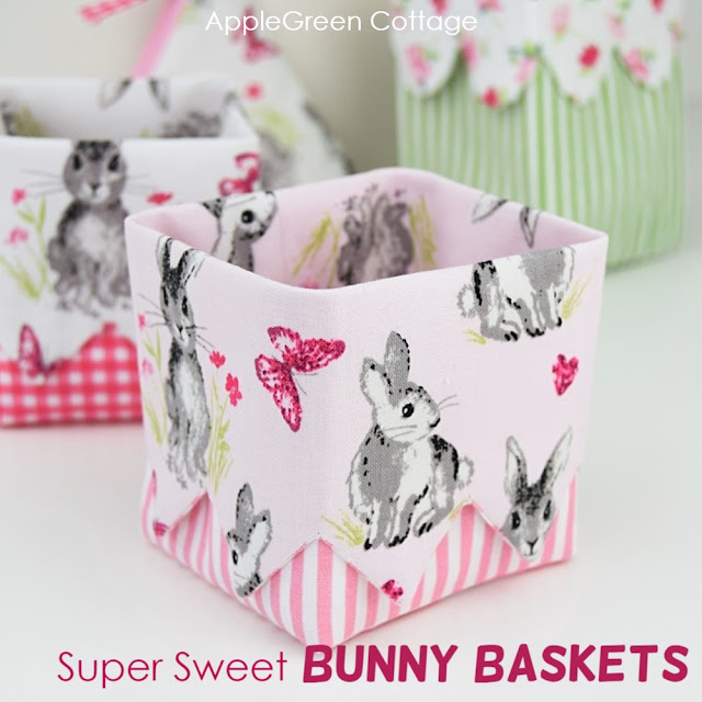 Diy Easter Baskets With Pretty Bunnies