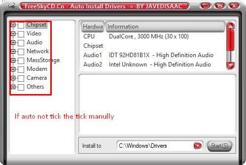 windows xp sp3 auto driver