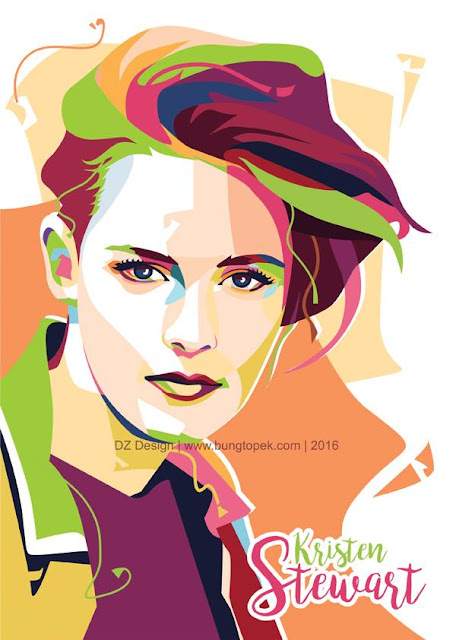 POP ART PORTRAIT Kristen Stewart
