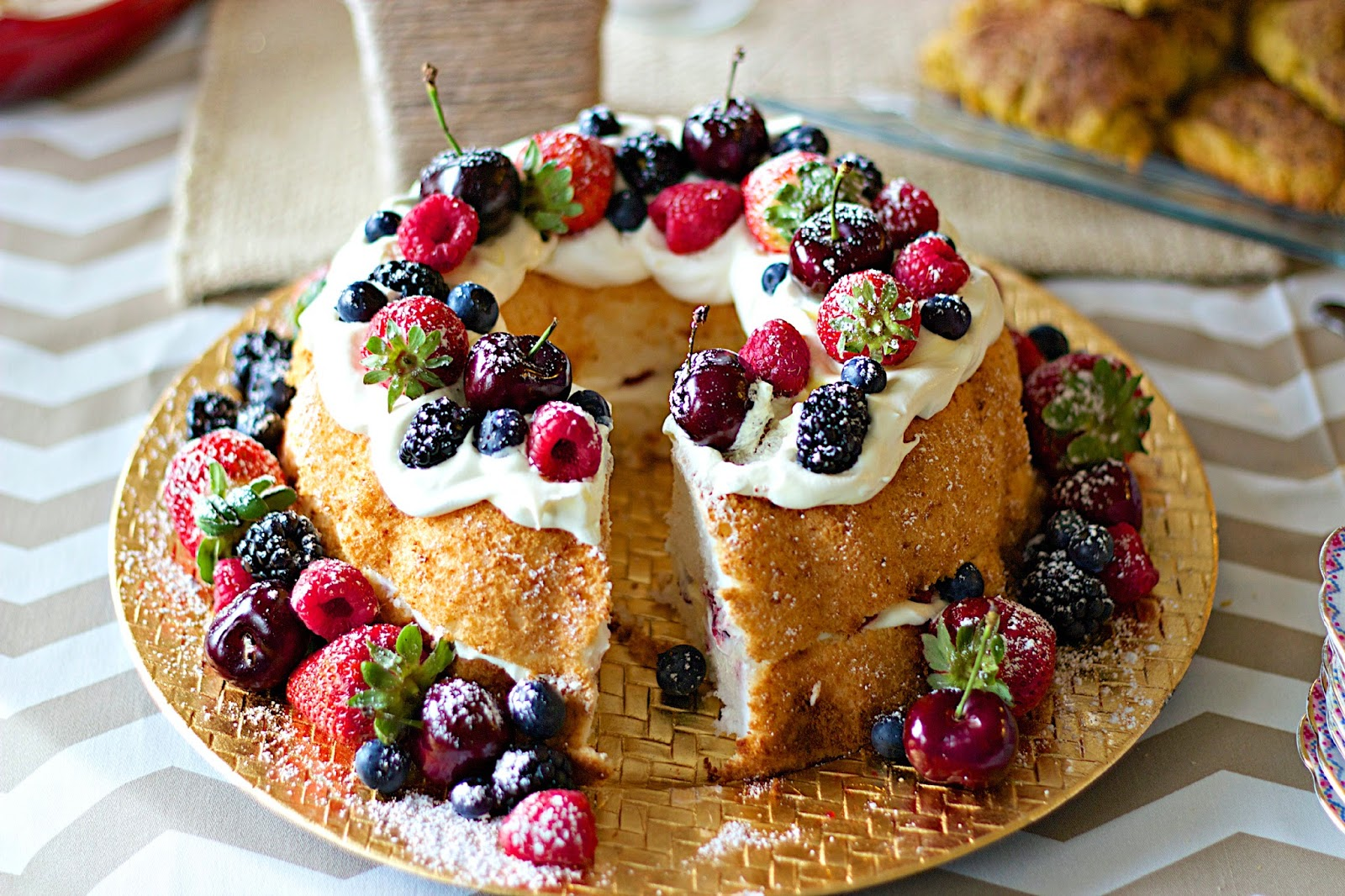EnJOIAble Desserts Etc.: Pretty Berry Birthday Angel Food Cake1600 x 1066 jpeg 435kB