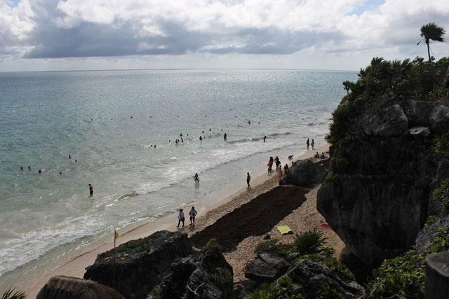 Playa del acantilado, Tulum