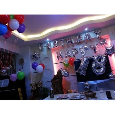 Kombinasi Balon Foil Huruf & Balon Foil Angka Silver