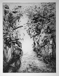 Juegos - grabado aguafuerte, edición para Kunst in de Stad, de Patricia Delgado