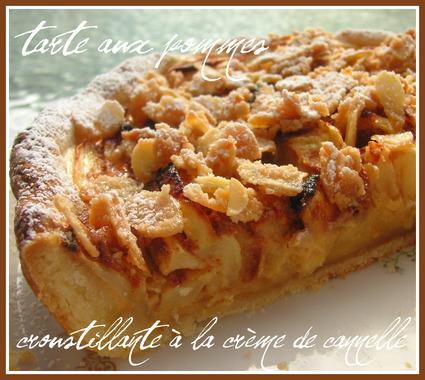 Recette Tarte aux pommes croustillante à la crème de cannelle