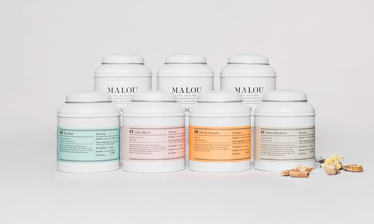 Malou: Malou Tea Atelie On Packaging Of The World