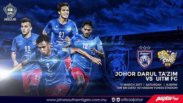 Live Streaming JDT vs UiTM FC 11 Mac 2017
