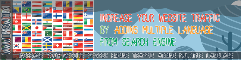 Increase Search Engine Traffic By Adding Multiple Language
