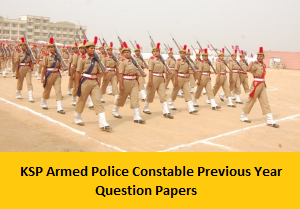 KSP Armed Police Constable Previous Year Question Papers