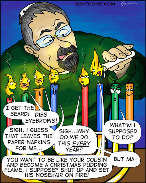 hannukah, januca, chanuka, hanukkiah, candle, flame, beard, eyebrow, squabble, jewish, festival, lights