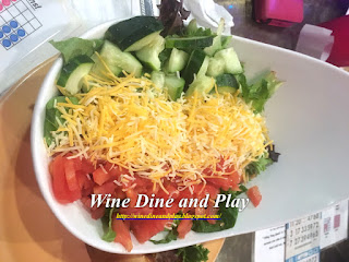 The side salad with tomatoes and lots of cheese at Hamburger Mary's