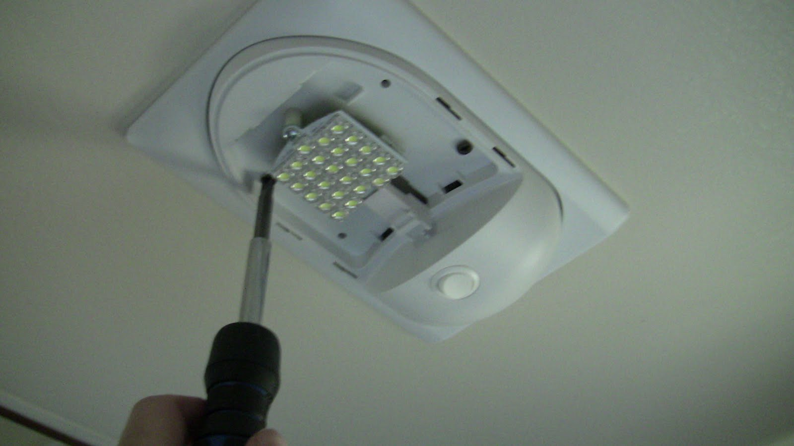 Replacing RV Incandescent Light Fixture with LED Light Fixture