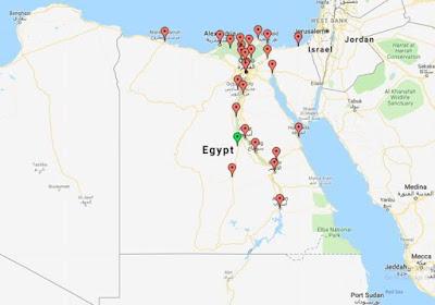 المسافات بين المدن المصرية