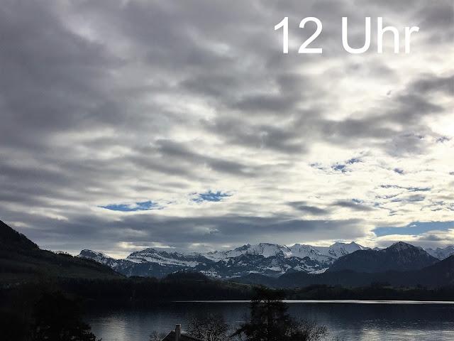 Aussicht Genussbalkon Nachmittags: See und Berge