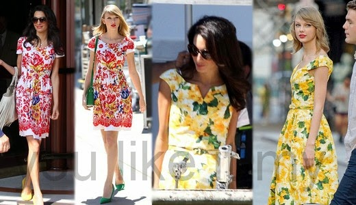 You Like It My...: Fashion Twins Taylor Swift and Amal Clooney