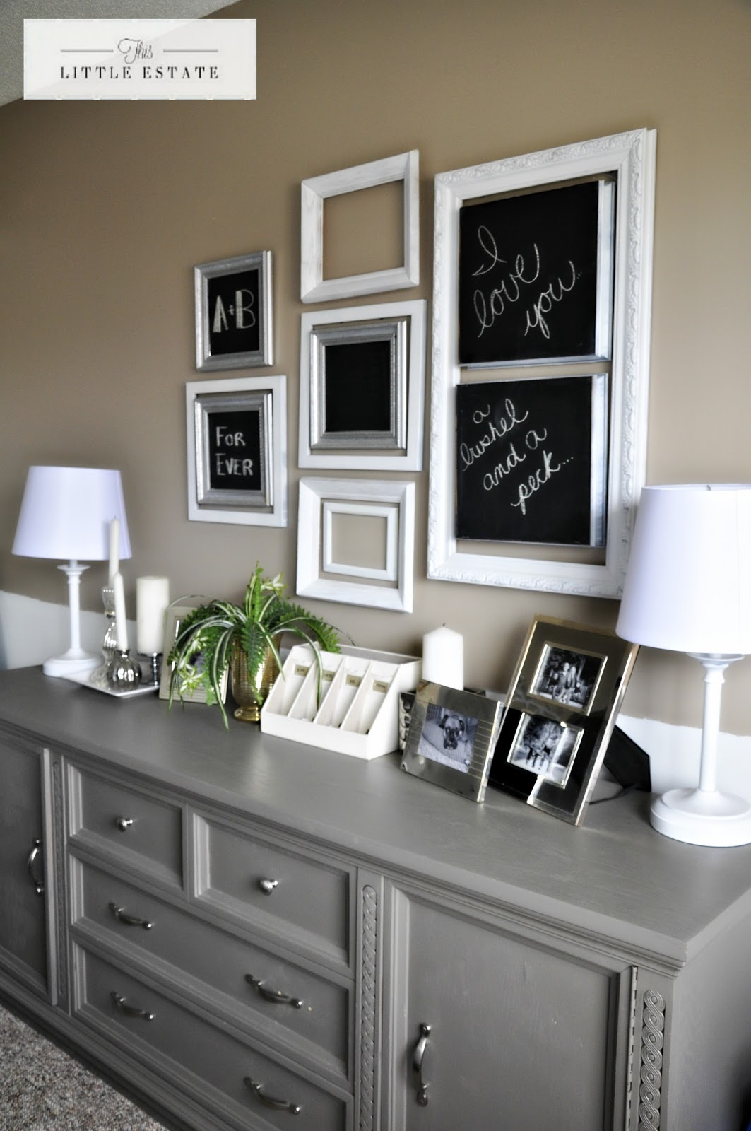 Master bedroom furniture redo this little estate - How to decorate a dresser in bedroom ...