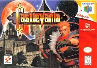 Portada del cartucho de Castlevania para la Nintendo 64, Konami, 1999