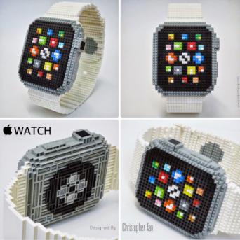 replicas apple watch made of nanoblock