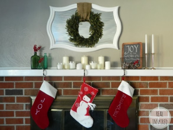 My $15 Christmas Mantel