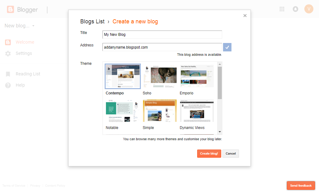 Question Reply: Create A Free Blog