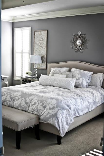 White and Gray Bedroom Idea