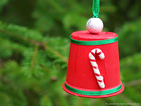 Clean Plastic Cup Christmas Craft