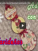 http://manualidadesreciclajes.blogspot.com.es/2016/11/adorno-navidad-con-cds.html