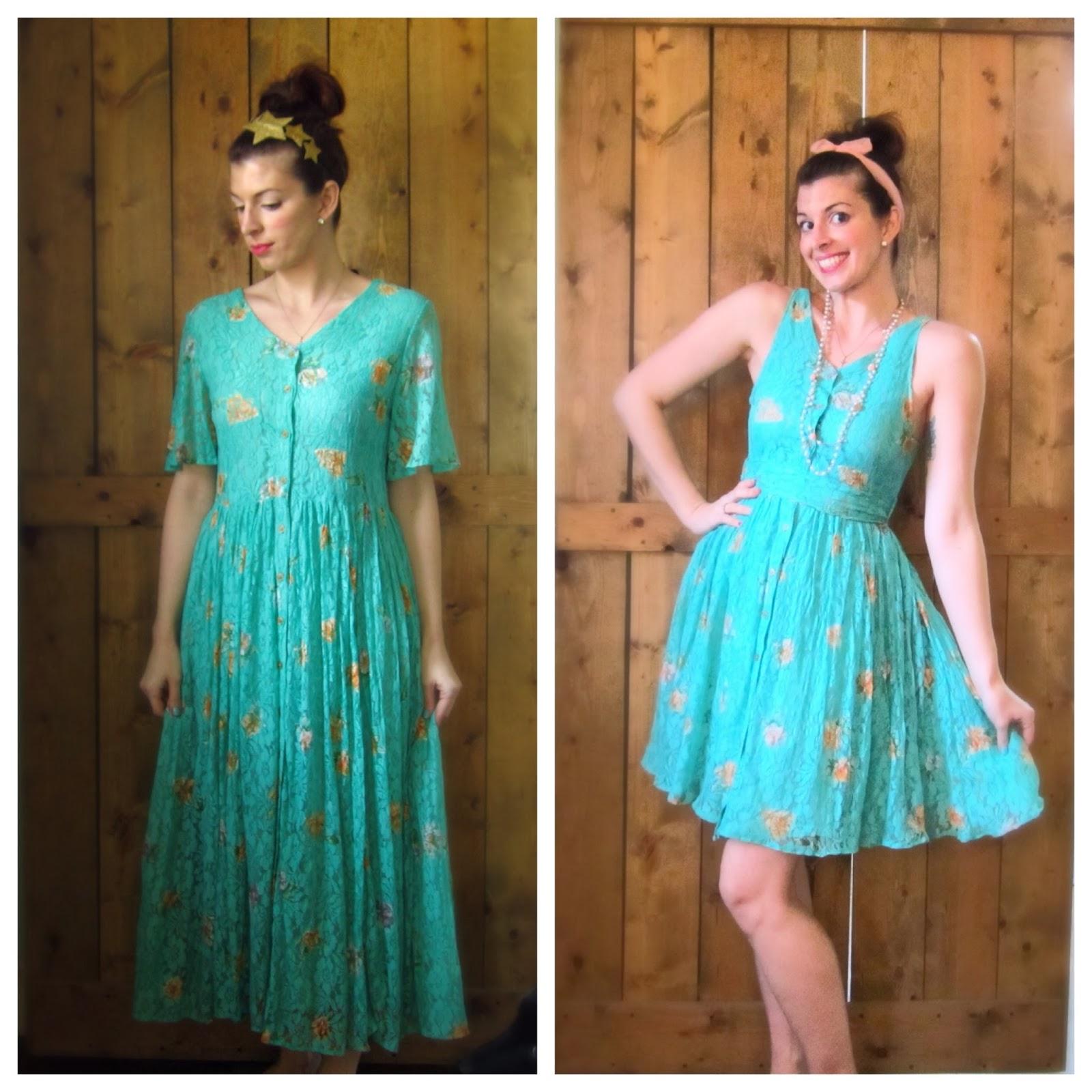 refashion a vintage dress