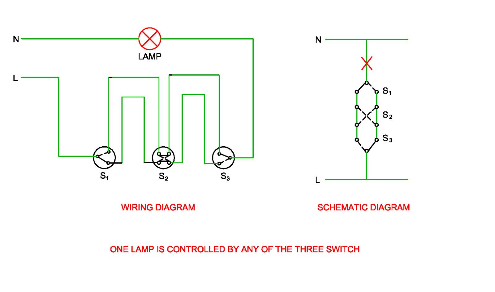 corridor light wiring diagram