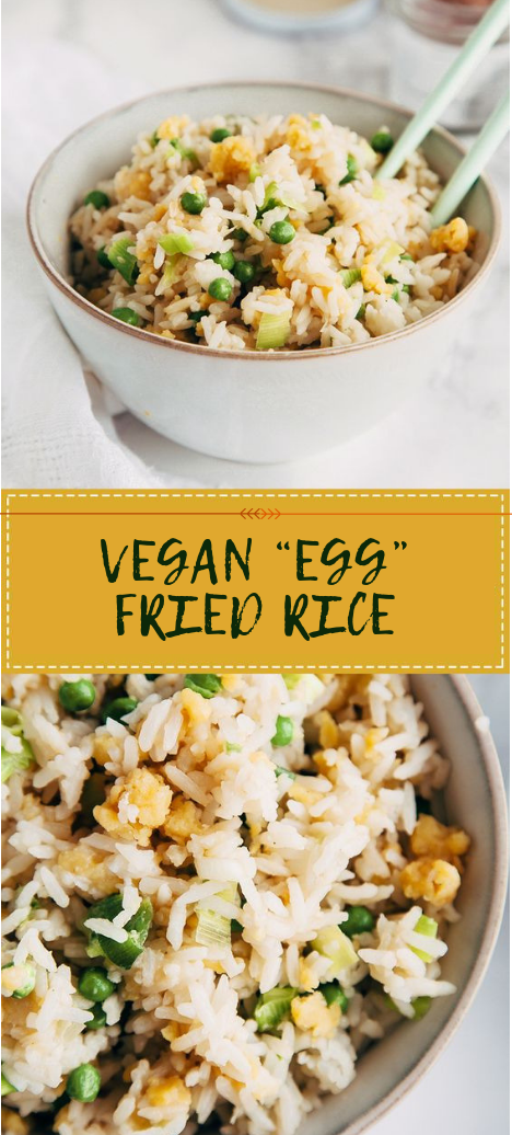 "VEGAN ""EGG"" FRIED RICE #gluten #vegetable"