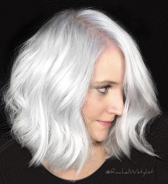 short haircuts for white hair 2019