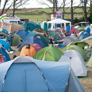 La zona de acampada tendrá agua caliente. Santader Music