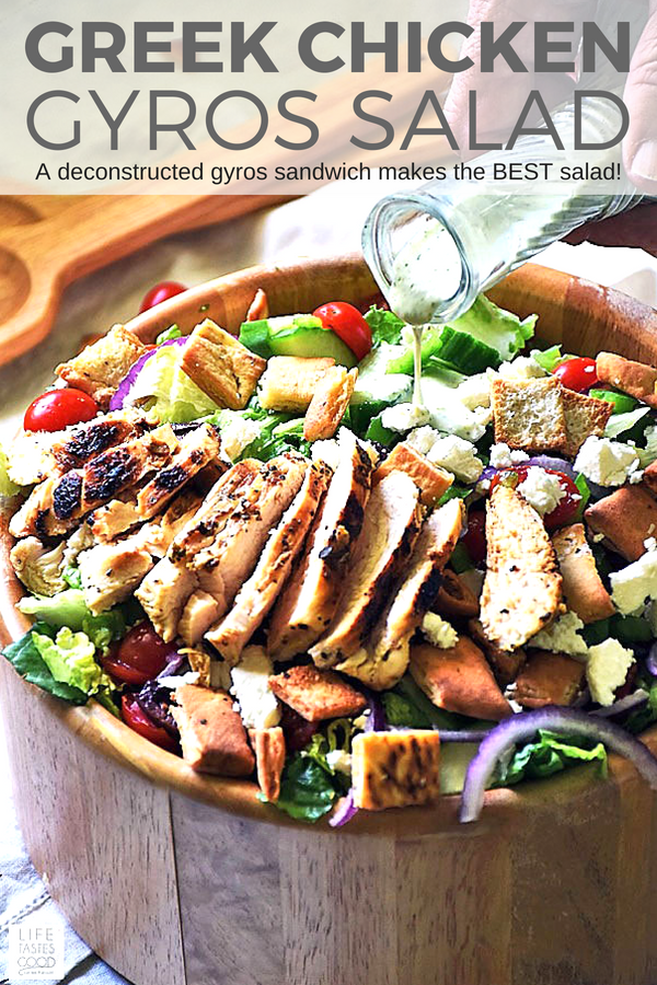 Greek Gyros Salad with Chicken on Pinterest