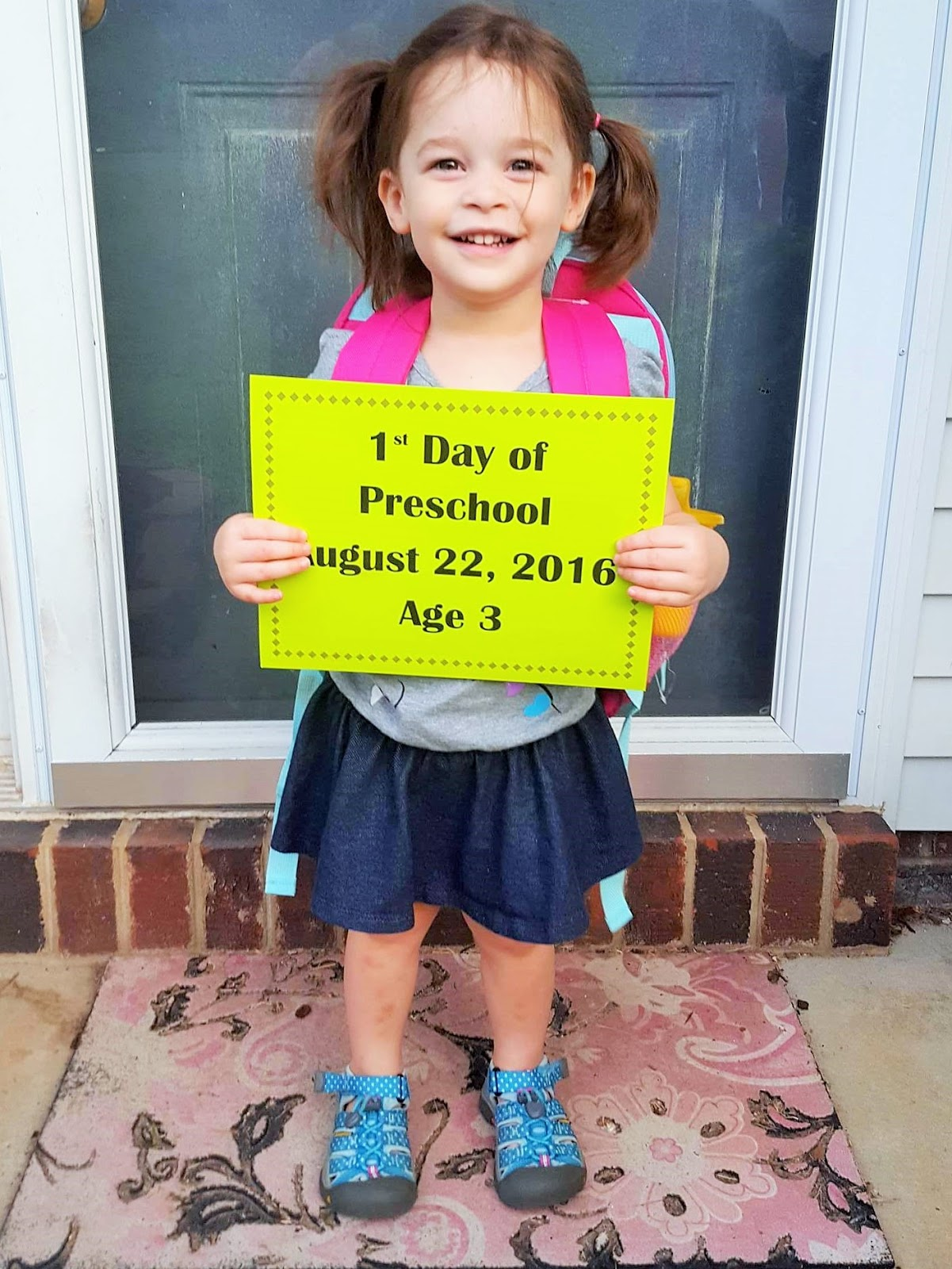 Triplets Toddler First Day Of Preschool In Our Words