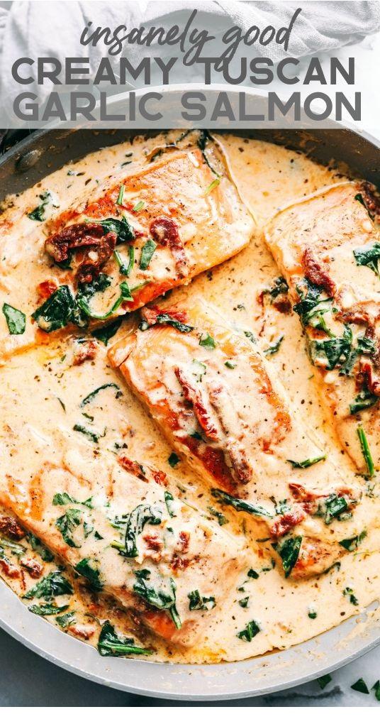 Insanely Good Creamy Tuscan Garlic Salmon