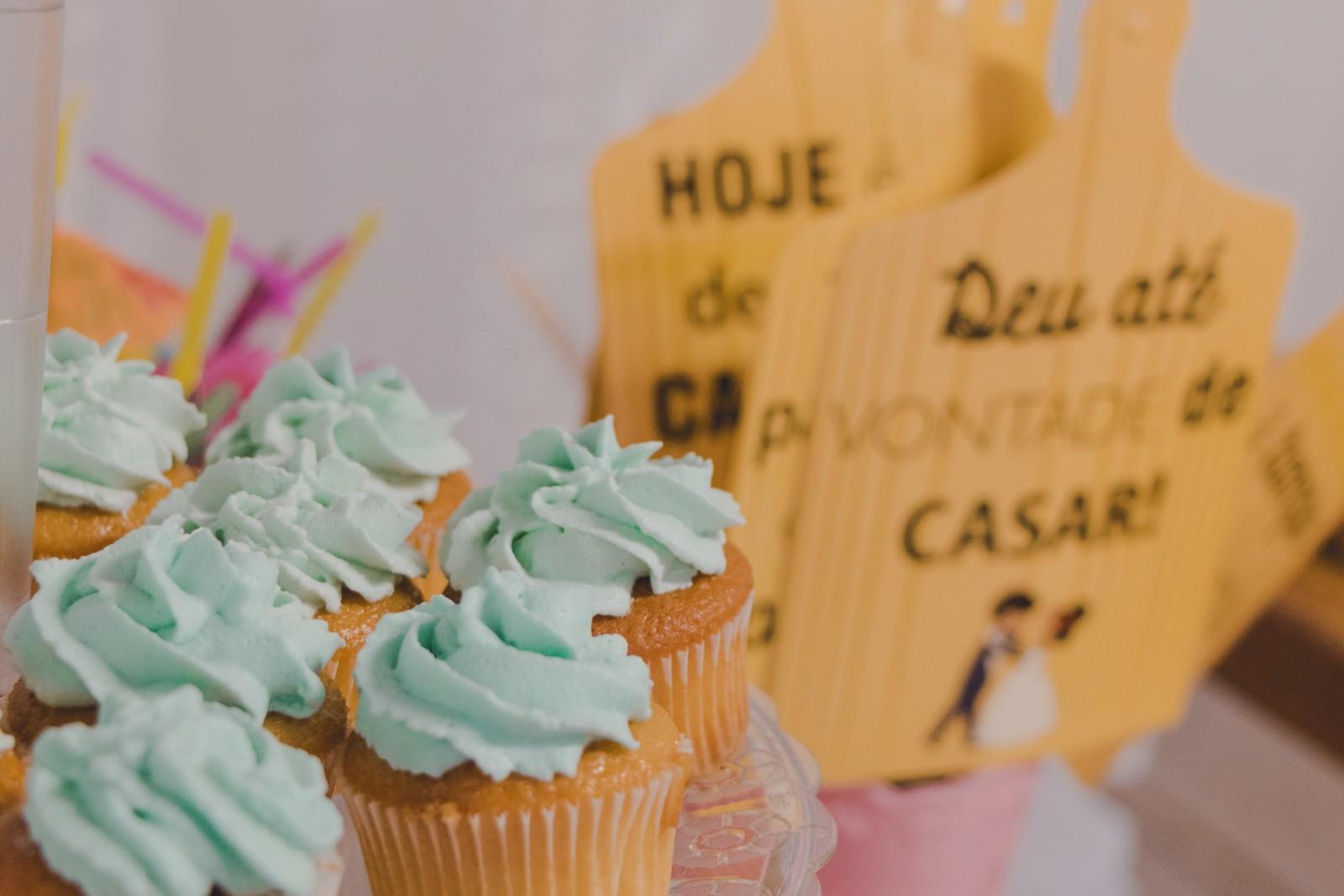 cupcakes verde água