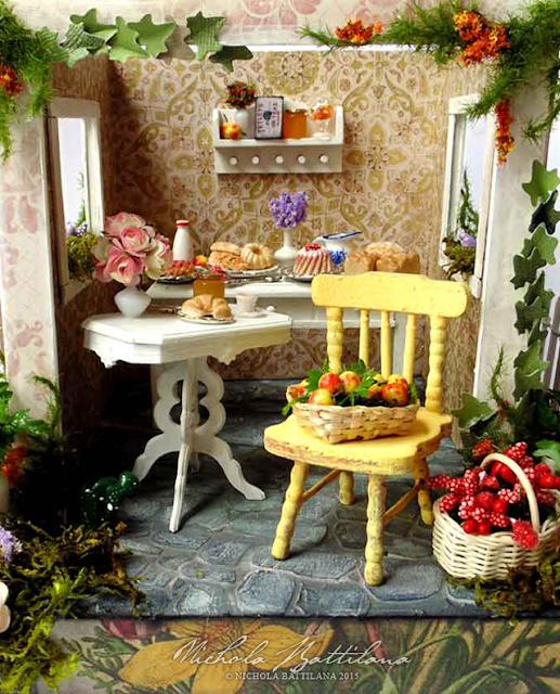 Miniature Tea Cottage - Nichola Battilana