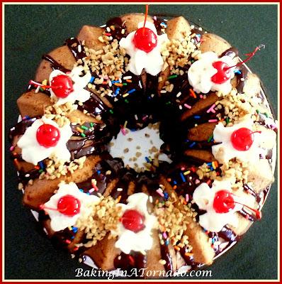 Neapolitan Sundae Cake GIF | www.BakingInATornado.com | #recipe #cake