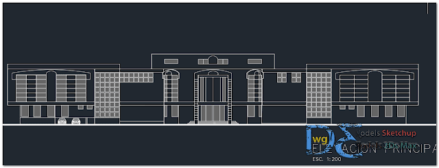 Cultural center in AutoCAD