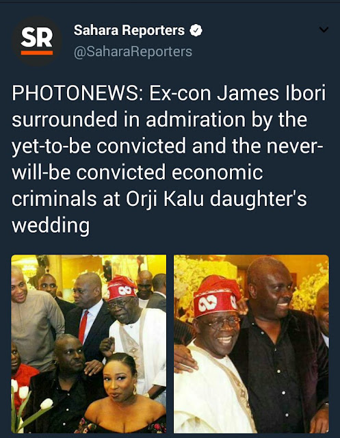 See the interesting way Sahara Reporters reported news of James Ibori