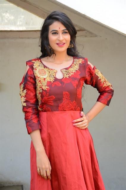 Priya Choudhary Image In Red Long Dress
