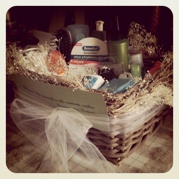 Big Wedding Tiny Budget Bathroom Basket