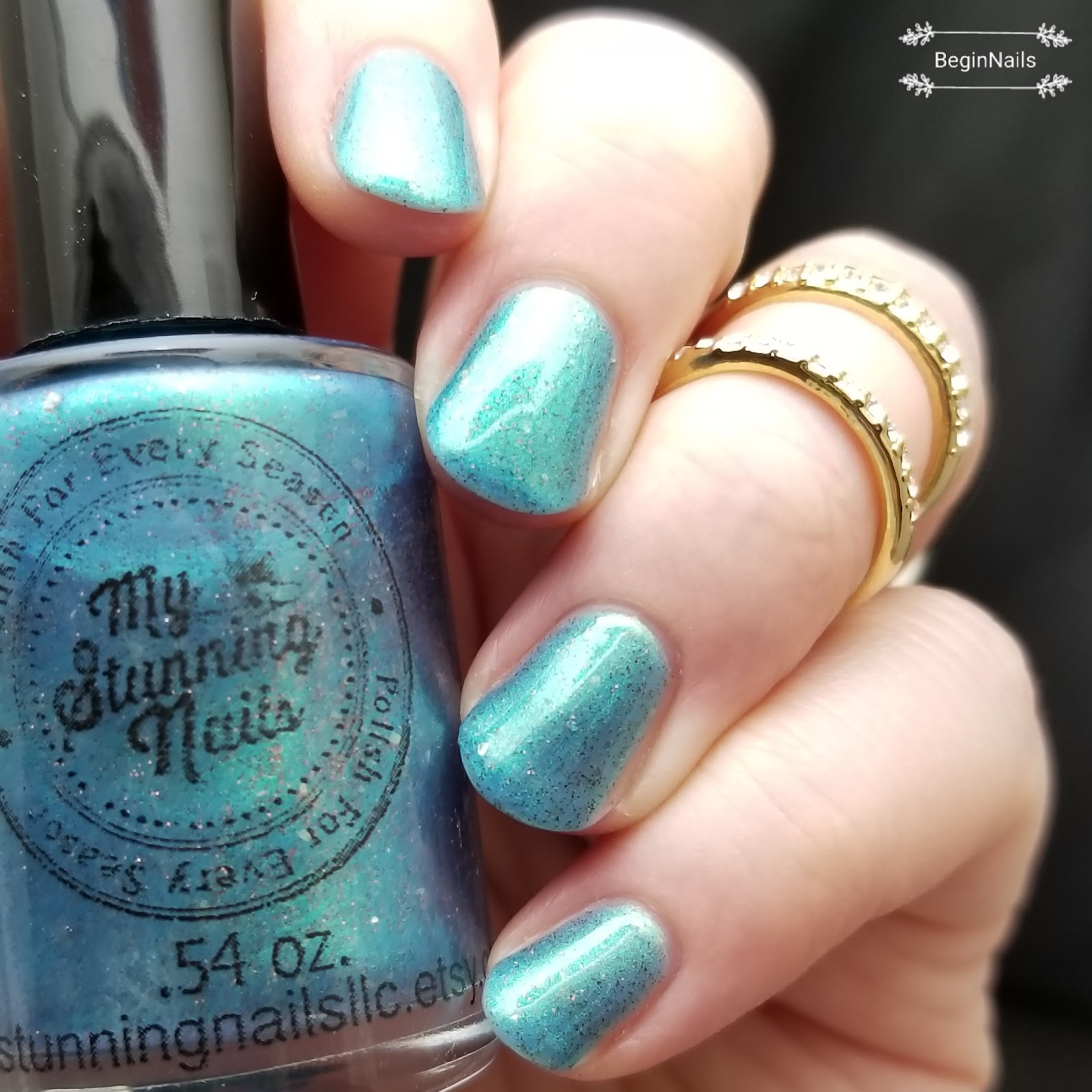 Let\'s Begin Nails: My Stunning Nails A Play On Turquoise