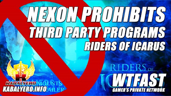 WTFast & Riders Of Icarus ★ Nexon Prohibits Third Party Programs