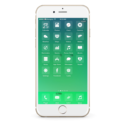 Enlightened is a new glyph based theme for iOS 9 which includes some folder icons, dark and light BG version, badges and more.
